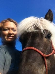 Selfie med smukke Svali efter træningen